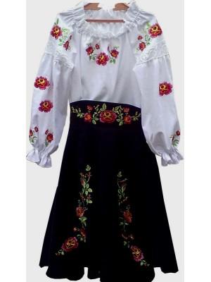 Детский сценический костюм в украинском народном стиле
