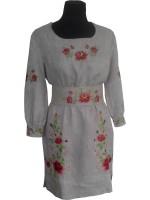 Вышитое платье Троянды