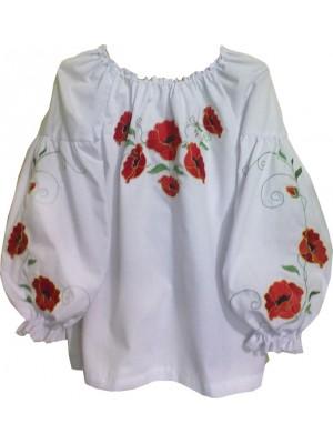 Вышиванка для девочки в народном стмле