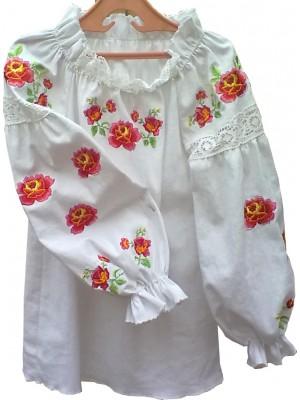 Вышиванка для девочки в народном стиле