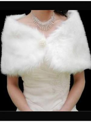 Меховая накидка для невесты на свадьбу