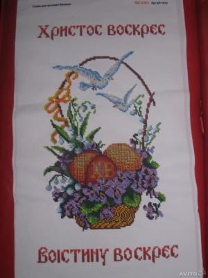 Вышитая пасхальная салфетка Любой орнамент под заказ
