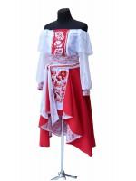 женский костюм ′Червоне з білим′