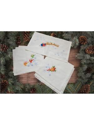 комплект салфеток новогодний подарок