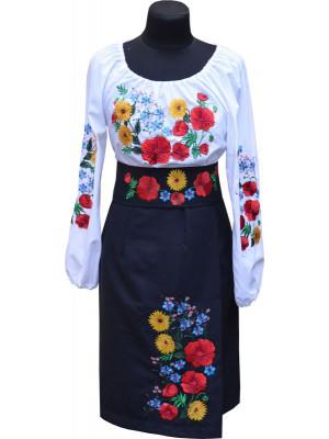 сценический украинский костюм в современном стиле Польові квіти