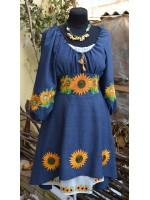 платье с вышивкой Сонячна квітка