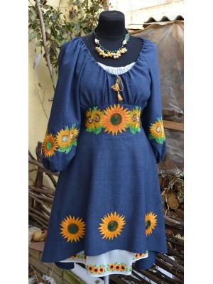 платье с вышивкой в этно-стиле ′Сонячна квітка′